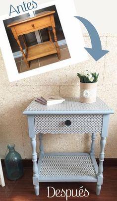 Como transformar mobiliario con decoupage y pintura de leche · Antes y después