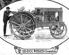 """1919 Twin City Tractor    With 4-cylinder 16-valve engines, the tractors were manufactured in Minneapolis until the mid 1930's. Twin City ran the ad in the July 5, 1919 Country Gentleman."""