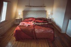 Quilts & Patchwork - Tagesdecke Überwurf Quilt aus Vintage Strick ROT - ein Designerstück von TIPIYEAH bei DaWanda