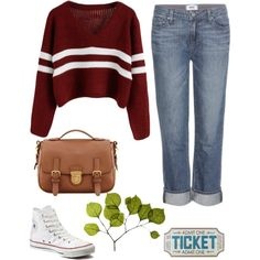 Laid back look by lexharalson on Polyvore featuring polyvore, fashion, style, Paige Denim, Converse, Prada and Dot & Bo