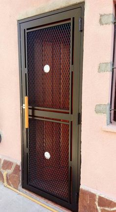 Exterior Doors Iron Entrance New Ideas Steel Gate Design, Iron Gate Design, Metal Gates, Wrought Iron Doors, Grill Gate, Iron Front Door, Window Grill Design, Main Door Design, Aluminium Doors