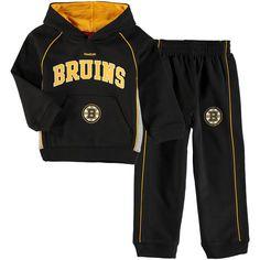 Boston Bruins Reebok Infant Classic Fan Arch & Logo Fleece Hoodie and Pant Set - Black