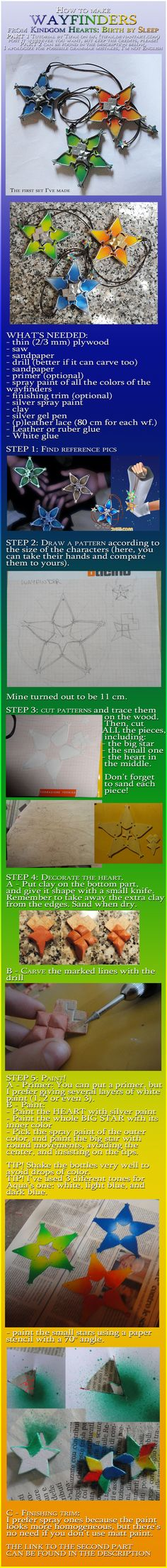 Kingdom Hearts: Wayfinders tutorial Tifax.deviantart.com I will probably NEVER do this, but the thought of actually making one is so cool!