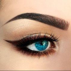 Chocolate brown winged eye makeup #eyeshadow #eyes #eye #makeup #dark #dramatic