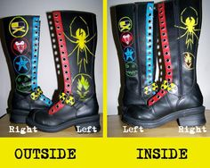 My Chemical Romance Boots! OMG Danger Days boots!! I need them.... NOW!!!