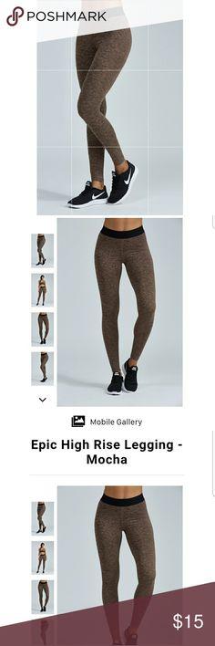 Mocha noli yoga leggings Mocha color. Super soft. Worn one time. Paid 50. noli yoga Pants Leggings