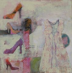 Pink Dress with Shoes...judy thorley