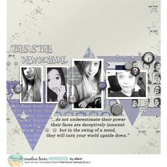 Digital Scrapbooking | TEEN PARENT ZONE Page Kit | ForeverJoy Designs