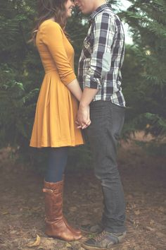 Engagement photo outfit idea: I'd love one taken wearing a dress and tights and boots newlywed holiday photos 3 Engagement Outfits, Engagement Couple, Engagement Photos, Fall Engagement, Engagement Session, Engagement Ideas, Blue Tights, Colored Tights, Navy Leggings