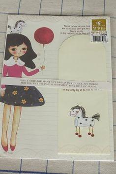 Kawaii Letter Set - Girl