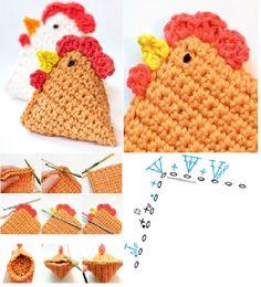 Crochet Fácil - 30 Ideas paso a paso ⋆ Manualidades Y DIY Motif Mandala Crochet, Crochet Motifs, Granny Square Crochet Pattern, Easter Crochet Patterns, Crochet Crafts, Crochet For Kids, Easy Crochet, Yarn Projects, Crochet Projects