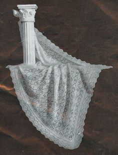 Heirloom Shawl vintage baby shetland lace shawl knitting pattern PDF, £1.00