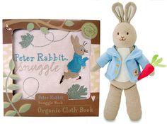Organic Cotton Plush Peter Rabbit and Snuggle Book