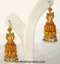 Gold Jhumka Designs, Ruby Jhumka Designs, Antique Jhumka Designs, Latest Jhumka designs