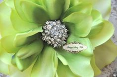Would you want something like this in your bouquet? @Heather Stephens 5 pcs RD104 Clear Crystal Rhinestone Metal by simplysassysource, $7.50