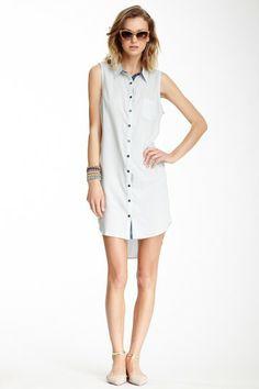 Sleeveless Shirt Dress by Isabel Lu on @HauteLook