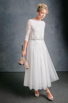 noni Brautmode 2020, Midi-Tüllrock in Ivory für die Hochzeit - Christy