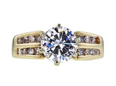 1.31 CT Round Cut Solitaire Ring, H-I, I1-I2 Sold at Auction for $1,170