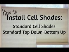 Install Cellular Shades : Standard Operation Standard Op Top Down-Bottom Up. Cellular Blinds, Cellular Shades, Window Coverings, Window Treatments, Honeycomb Shades, Shades Blinds, Do It Yourself Projects, Roman Shades, Windows