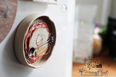 Magnes na lodówkę z pokrywki od słoika :) / Jar lid fridge magnet :)