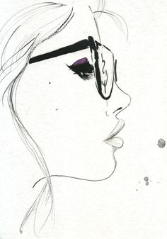 That Nerdy Girl,  by Jessica Durran fashion illustration face, drawing faces, drawing girls, face sketches, face drawings, drawing charcoal girl, girl sketch, fashion drawing face, drawings of girls faces