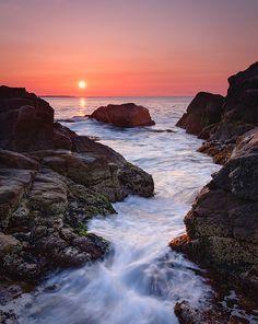 Sunrise at Hazard Rocks in Narragansett, Rhode Island. www.mottandchace.com | Rhode Island | Mott and Chace | Sotheby's International Realty