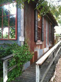 Rusty corrugated tin house