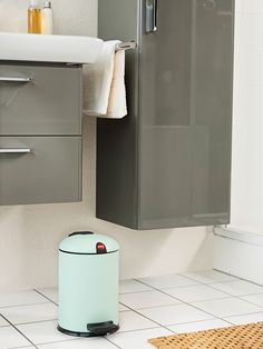 Mint is as fresh as spring and has an exquisitely invigorating effect. The same effect is produced with the mint green waste bins which can be combined as required. Proving themselves to be a harmonious accompaniment are White, Olive Green, Ultramarine, Vanilla Yellow and Grey in all their variations.