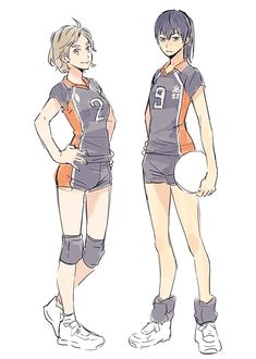 Haikyuu Genderbend, Haikyuu Karasuno, Haikyuu Fanart, Kageyama, Haikyuu Anime, Volleyball Drawing, Volleyball Poses, Daisuga, Kuroken