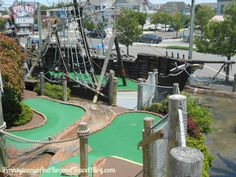 Pirate Island Adventure Golf in Avalon New Jersey  - One of our favorite places EVER to play miniature golf!
