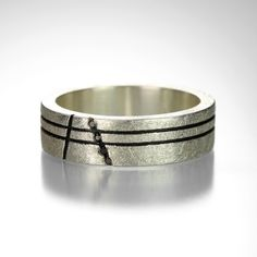 This Todd Reed ring is just right for a man seeking an alternative wedding band…
