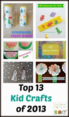Top 13 Kid Crafts of 2013 by FSPDT ~ Simple and fun kid crafts for multiple aged kids ~ geared toward toddlers and preschoolers