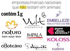 produtos que não testam em animais