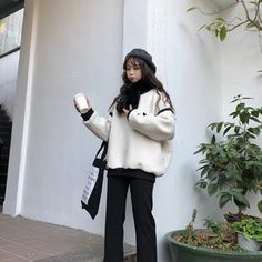f2c660d4d35 ニットセーター 【韓国ファッション,オルチャンファッション,冬服コーデ,秋冬コーデ,