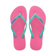 HAVAIANAS SLIM LOGO POP UP SANDAL SHOCKING PINK. #havaianas #shoes #all