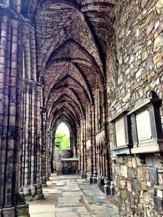 Abbey ruins, Holyrood Palace, Edinburgh, Scotland
