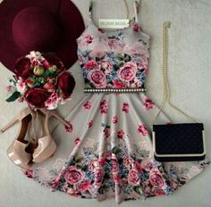 Image de dress, outfit, and flowers Mode Outfits, Dress Outfits, Casual Dresses, Short Dresses, Fashion Dresses, Pretty Dresses, Beautiful Dresses, Gorgeous Dress, Mode Collage