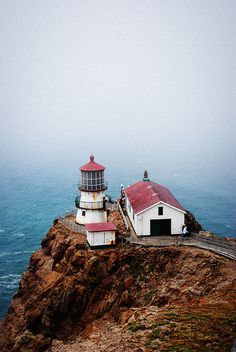 Point Reyes Lighthouse, Outer Marin County, Northern Californien. #roadtrip #bryllupsrejse #bryllupsfeber Der er tips og inspiration til rejsen her: http://www.bryllupsfeber.dk/billig-bryllupsrejse/billig-bryllupsrejse-til-usa/
