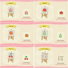Game design 405394403962215243 - Source by Animal Crossing Guide, Animal Crossing Qr Codes Clothes, Animal Games, My Animal, Fruit Animals, Cute Animals, Orchard Design, Motif Acnl, Posca Art