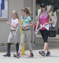Denise Richards & Girls Visit LA Equestrian Center  - http://site.celebritybabyscoop.com/cbs/2015/07/20/denise-richards-equestrian