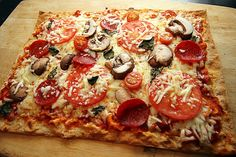 ONLY 5 minutes on 450*! Lavash Flat Bread Whole Wheat Pizzas! Low Carb! Under 325 calories for the WHOLE THING! Healthy dinner or lunch idea! Check out my BLOG for more healthy recipes! =) | WefollowPics