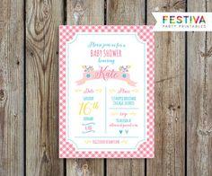 Invitación del pájaro / pajarito ducha / por FestivaParty en Etsy