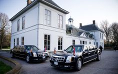 Armored cars of president Obama at Catshuis G7 - Made possible by www.iCraiova.com
