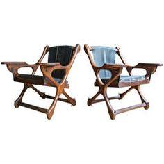 Don Shoemaker, Pair Of Sling Swinger Chairs