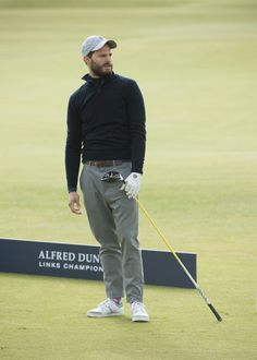 Jamie Dornan at Alfred Dunhill Links Golf Tournament Oct 2016 Alfred Dunhill, Fifty Shades Movie, Jaime Dornan, British Men, Christian Grey, Nice To Meet, How To Look Better, Menswear, Mens Fashion