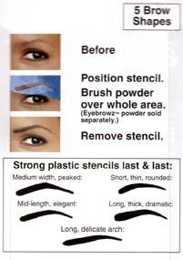 Eyebrowz Stencils to Darken and Shape with Wallet - Includes 5 Brow Shapes - http://www.mensgroomingstuff.com/eyebrowz-stencils-to-darken-and-shape-with-wallet-includes-5-brow-shapes/