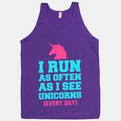 @Amanda Snelson Snelson Snelson Snelson Graham  I Run as Often as I See Unicorns   HUMAN