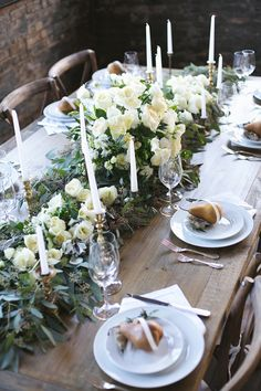 Pear Wedding Inspiration in a Warehouse Setting. Photography LEXI VORNBERG / Florals MARTI'S FLORAL DESIGNS / Invitations and calligraphy THE WEEKEND TYPE / Table and rentals ALL OCCASIONS EVENT RENTAL / Adornments LACIELLE ROSELLE / Ribbon FROUFROU CHIC / Location OLD WAREHOUSE IN CINCINNATI #Magnoliarouge