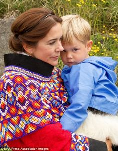 Prince Vincent wore a national costume from northern Greenland, with the young Prince dressed in pants made from polar bear skin