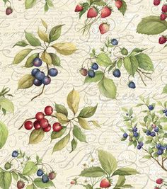 SUSAN Winget Berries Fabric By the Yard quilting by ByTheYard4U, $24.99